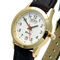 Ravel Ladies Day/Date Watch Goldtone 0706.19.2